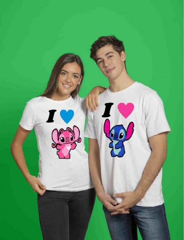CAMISETA STITCH LOVE