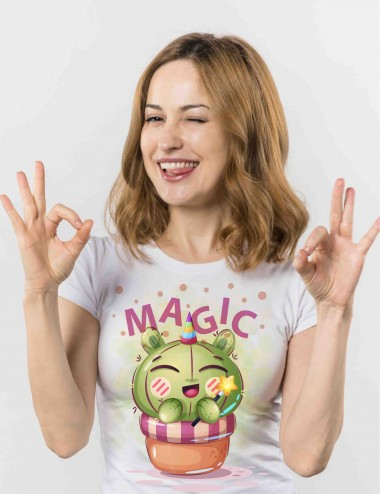 CAMISETA CACTUS MAGIC