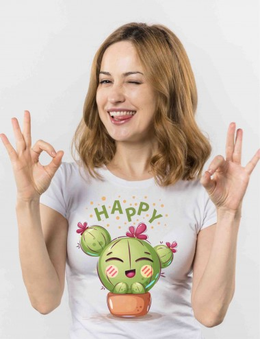 CAMISETA CACTUS HAPPY FEST...